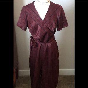 Xhilaration jumpsuit, burgundy, medium